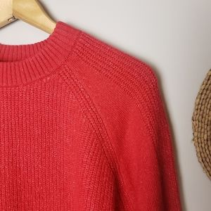 Topshop Red with White fleck Oversized Sweater